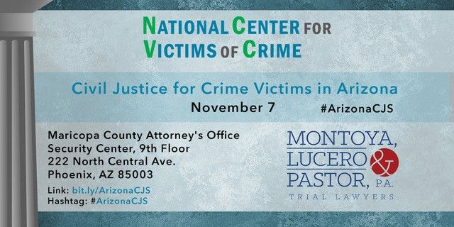 Seminar Civil Justice for Crime Victims in Arizona NCVC Information